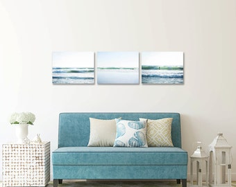 Beach Gallery Wall, Surf Decor Set, Beach Decor Set, Blue White Coastal, Surf Art, Waves, California Coast, Minimalist, Gallery Wall Prints