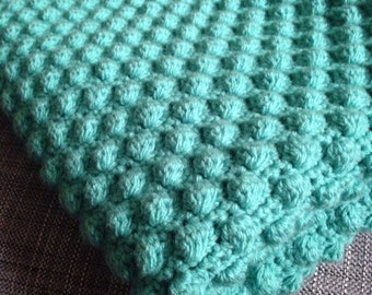 Handmade Teal Baby Blanket