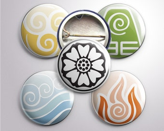 The Last Airbender Nation Buttons