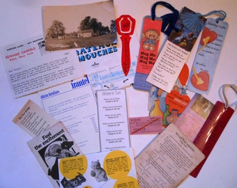 Paper Ephemera, Vintage, Crafting Supplies, Bookmarks, Valentine, Driving Rules, Bull Fight Program