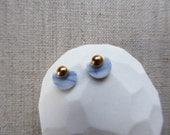 Semicircle Stud Earrings...