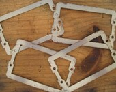 Vintage Salvaged Metal Rectangles - Mixed Media, Assemblage, Altered Art, Supplies - 4 in Lot