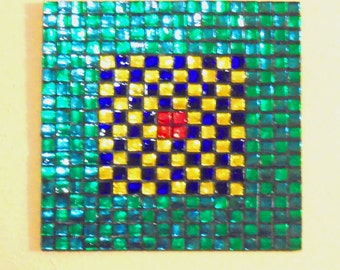 Stained Glass Mosaic Abstract Mirrored Glass Wall Hanging Wall Decor Glass Art Mosaic Art Wall Art