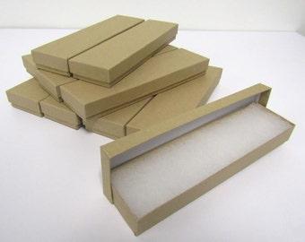 Kraft Boxes- 20-count Cotton Filled Bracelet Boxes