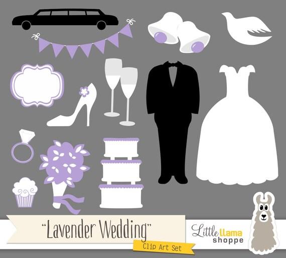 Lavender Wedding Clip Art Light Purple Clipart Bridal Shower Dress Tuxedo Cake From LittleLlamaShoppe On Etsy Studio