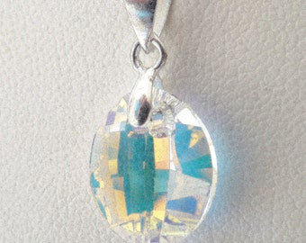 Swarovski Crystal Pendant Necklace on a Baby Chain