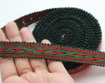 Uzbek cotton woven trim Jiyak. Ethnic Boho trim