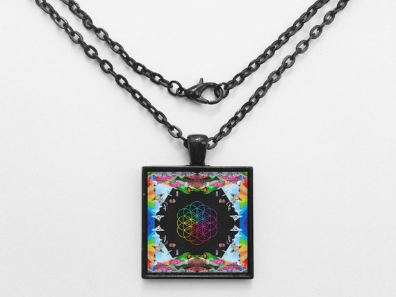 Coldplay - Head Full of Dreams Album Cover Necklace OR Keychain