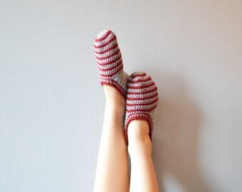 Home slippers, yoga socks, crochet wool slippers, woman slippers