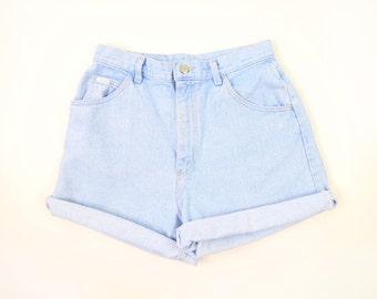 VINTAGE Lee Denim Shorts Light Blue Jeans High Waist