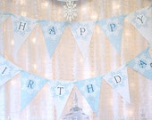 Snow Fairy Banner Winter Wonderland Pennants - Blue Fairy Collection - INSTANT DOWNLOAD Gwynn Wasson Designs