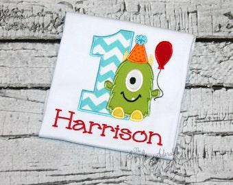 Monster Birthday Shirt, Personalized Monster Birthday Shirt, Monster Party, Little Monster Birthday, Monster Shirt, 1st Birthday Monster