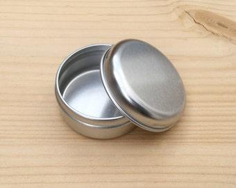 round metal tins, silver color 15ml tin box, lip balm box, diy container, 1 tin