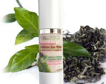 CAFFEINE Eye Cream - For Puffy Eyes & Dark Circles -  All Natural - Organic - NO Synthetics - NEW Airless Bottle!