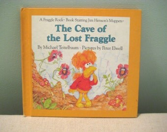Vintage The Cave Of The Lost Fraggle Book