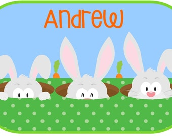 Rectangular Easter Bunnies with carrots for fun iron on at Giggles to Go
