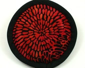 Batik Catnip Pillow, Strong Catnip Toys, Goth Cat Toys, Red Flower Petals Pillow, Well-Made Cat Toys, Cool Cat Toys,  RED and BLACK BATIK