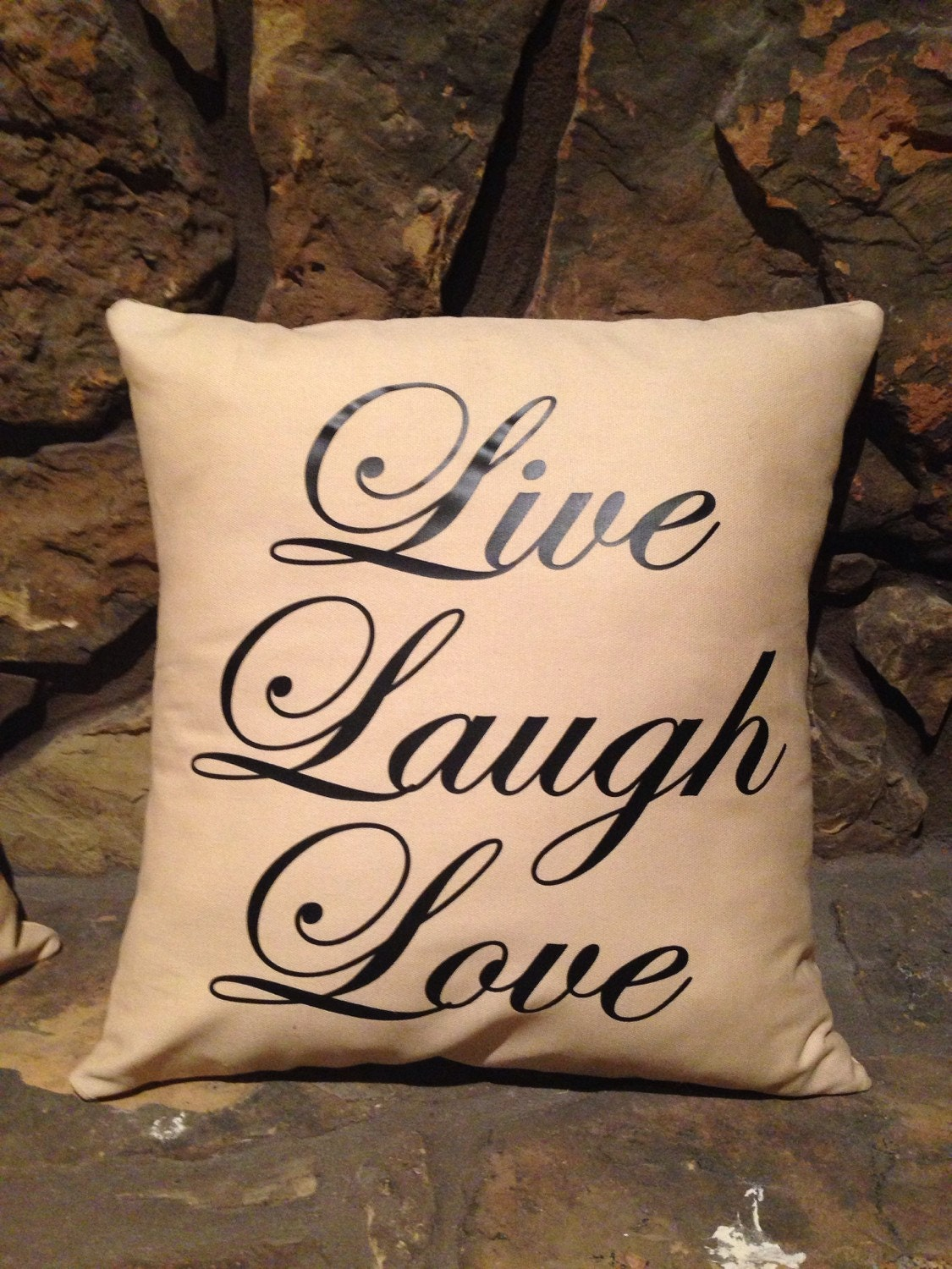 Decorative Love Pillow : Live laugh love pillow 16 x 16 decorative by BibsBurpsNThings