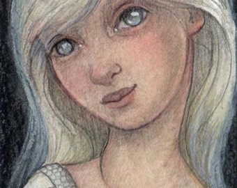 Original ACEO.....Moon Child