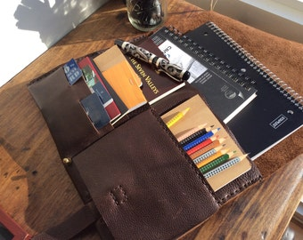 Leather laptop clutch, Handmade leather laptop sleeve organizer, Custom iPad laptop case, Macbook air sleeve, Design your own laptop sleeve