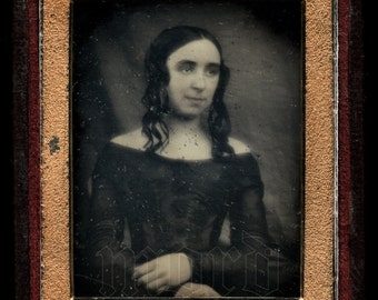 Early / 1840s Daguerreotype of a Woman in Full Flip Case