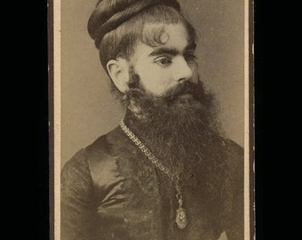 RESERVED / Do Not Buy // Very Rare Photo of Victorian Sideshow Freak / The Bearded Lady