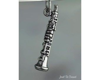 Sterling Silver Oboe Charm Instrument Music Oboist Musician Solid .925