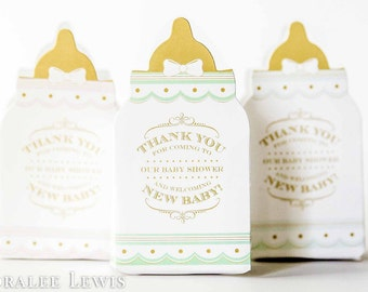 Baby Bottle Favor Box Set by Loralee Lewis