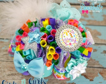 Ready To Ship Always Be A Unicorn Funky Loopy Boutique Bow