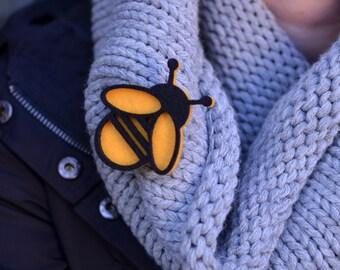 Felt yellow bee shape bee