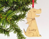 Dog Wooden Christmas Ornament Personalized Pet Kids
