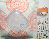 I Spy Bag Aqua Orange Dots Neutral themed contents girls boys seek and find game party favor sensory occupational therapy