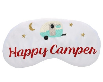 Happy Camper Sleep Mask Glamping Airstream RV Camping Travel Trailer