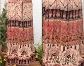 Indian Block Printed Long Cotton Skirt, pixie Skirt