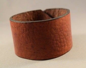 Leather Gift For Him-Leather Gift For Men-Gift For Women-Boyfriend gift-Gift For Him-Mens Brown Cuff-Men Jewelry-Birthday Gift-