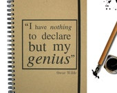 Oscar Wilde Quote Notebook Genius Gift Ideal Student Gift