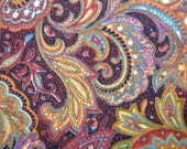 Flannel Floral Scroll Fabric