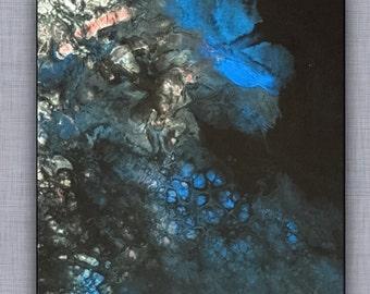 Blueprint-2d original abstract painting by Danielbrunosarts