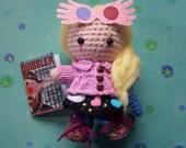 LUNA LOVEGOOD Quibbler Spectrespecs Harry Potter Muggle Witch Wizard Amigurumi Crochet Doll Yarn Kawaii Art Doll Mixed Media Hogwarts