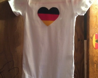 German Flag Heart Bodysuit