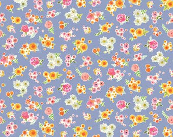 Colette - Floret in Lavender by Brenda Walton for Blend Fabrics