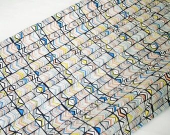 Geometric Changing Pad Cover, contoured changing pad cover, Geos Deep Marina, tribal nursery