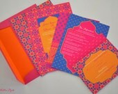 Wedding Invitations - Colorful Moroccan Collection--Special Listing