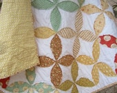 Whimsy.........A Fray Edge Circle Quilt...Ready to Ship