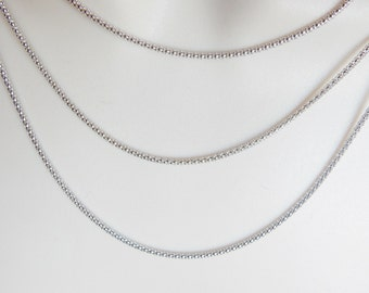 18 inches Sterling silver popcorn necklace chain , finished necklace chain