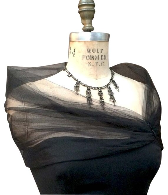 Tulle Black Shrug, Tulle Stole, Evening Wrap