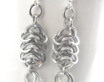 Steel Spine Chainmaille Earrings