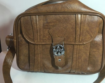 Vintage 1975 American Tourister brown travel carry on bag/luggage