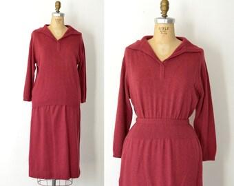 1960s Bonnie Cashin Cashmere Skirt & Sweater / 60s Sweater Dress