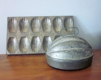 Rustic Pudding Mold, Vintage, Primitive, Farmhouse